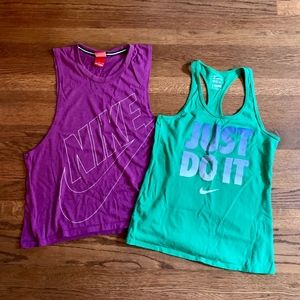 Pair of Nike Size Small Workout Tanks
